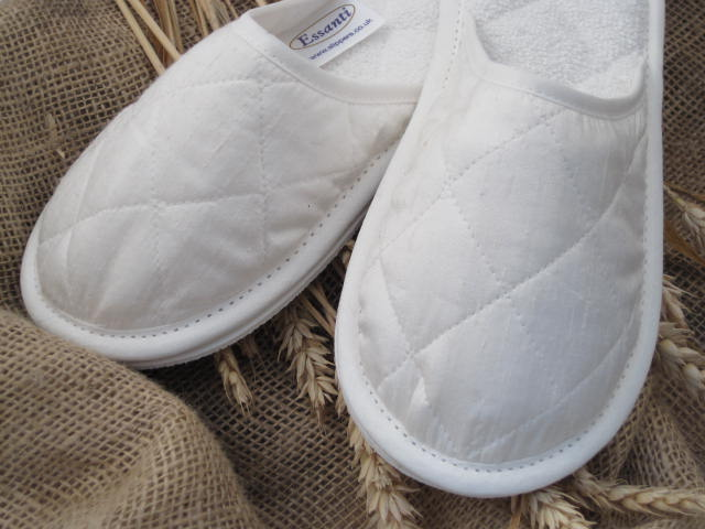 Style 353 Dupion Silk Slippers
