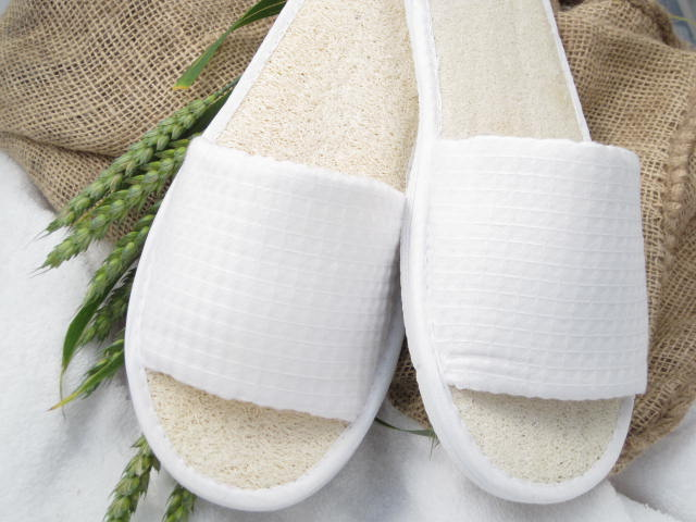 Washable Waffle Slippers with Loofah Insoles