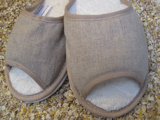 Washable Linen Slippers