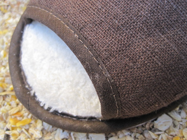 Peat coloured Linen Slippers